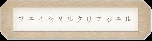 岡山の理美容室Bboの取扱商品 フェイシャルクリアジェル題名